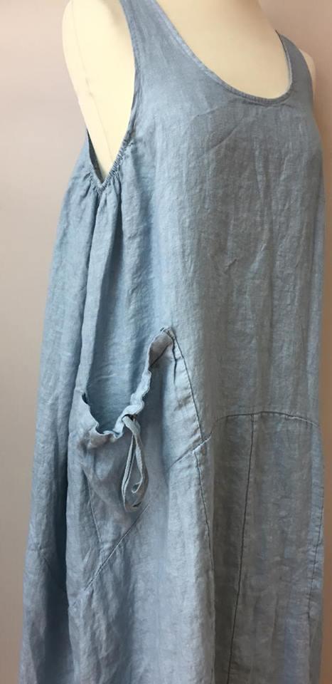 tia linen parachute dress lagenlook boutique